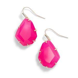 Kendra Scott Rosenell Drop Earrings - Pink Agate